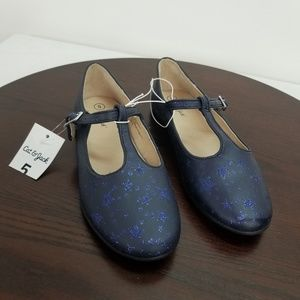 Cat & Jack Girls T Strap Mary Janes Size 5